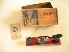 "RARE PATENTED PLANE, ""LINFORD, BIRMINGHAM"" - MINT IN BOX, LARGE SMOOTHER"
