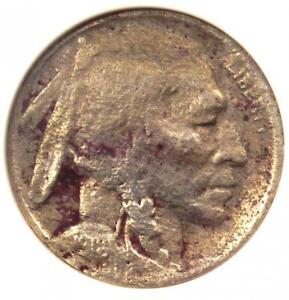 1918/7-D Buffalo Nickel 5C - Certified ANACS VG Details - Rare Overdate Coin!