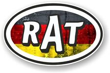 Oval Retro RAT Ratlook Germany German Flag STP Style Vinyl car sticker Decal