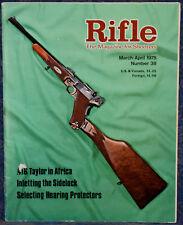 Magazine RIFLE March/April 1975 LYMAN Zouaves RIFLE SAVAGE Model 23 .25-20 RIFLE