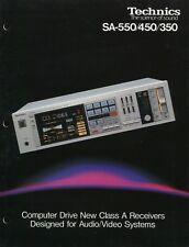 Technics SA-550, SA-450, SA-350 Original Stereo Receivers Brochure