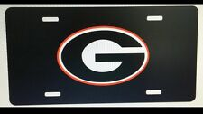 Georgia Bulldogs License Plate Metal Black with G UGA Tag