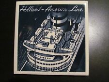 HOLLAND AMERICA CRUISE LINE delft tile SHIPS STACK DECK deco style aerial view