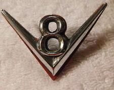 Vintage Original Ford  auto car  V8  engine Logo Front Fender Emblem
