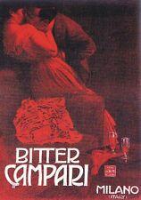 "TARGA VINTAGE ""1861 BITTER CAMPARI MILANO"" Pubblicità, Advertising, Poster Plate"