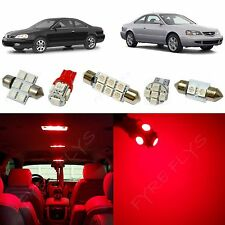 8x Red LED lights interior package kit for 2001-2003 Acura CL AC1R