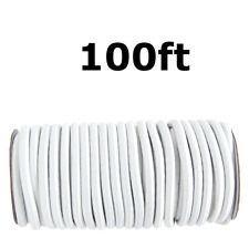 """100ft 3/8"""" White Shock Cord Marine Grade Bungee Heavy Duty Tie Down Stretch Rope"""