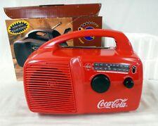 NEW VERY RARE 1996 FREEPLAY COCA COLA RED WINDUP SELF POWERED AND SOLAR RADIO