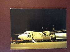 G1e postcard unused lufthansa fokker 50 dlt aeroplane