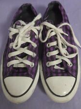 Converse All Star Chuck Taylor Purple and Black Checkered Size 5 Women's