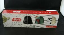 New Williams Sonoma Star Wars Cookie Cutters Yoda Darth Vader Boba Fett Storm T