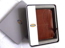 FOSSIL marrón Cuero Billetera Tarjetas Con cremallera Notas Monedas en FOSSIL Estaño