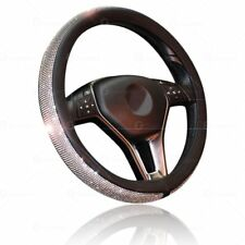 Zone Tech Shiny Bling PU - Leather Rhinestone Steering Wheel Cover Crystal