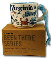 Starbucks Virginia 2oz Ornament Mini Size Demi Mug New In Box with Sku Free Ship