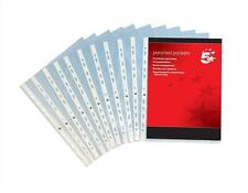 1000 x A4 CLEAR FILE PUNCHED POCKETS QUALITY TOP OPENING 40 MICRON