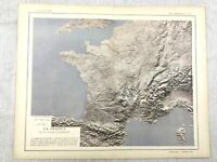 1894 Antik Map Of Frankreich Frühe Arial Fotografie Original 19th Century French