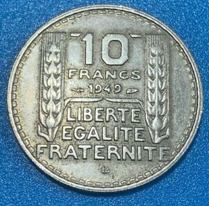 1949B France 10 Francs Coin