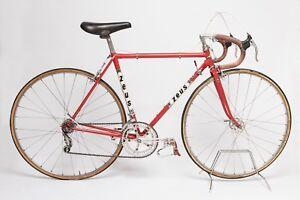Vintage Spanish Road Bicycle ZEUS Steel Red made in Spain
