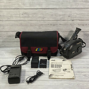 JVC Compact VHS Camcorder GR-AX15E Retro Video Camera With Extras Tested Working