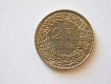 Switzerland 2 Francs (22 stars) Coin 1968, miedzionikiel /copper-nickel