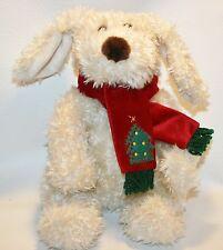 Darla and Darby Commonwealth Plush Puppy Dog Stuffed Animal Christmas Scarf Tree
