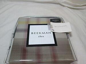 """New Beekman 1802 LOCKPORT - Tawny Queen Sham 20""""x30"""" ~ Multi Colors NIP"""