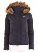 HOLLISTER Womens Padded Jacket Size 6 XS Navy Blue Polyester  HH03