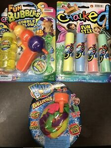 Water Bombs, Bubbles, Chalk SUMMER FUN TOYS