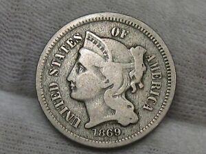 1869 3¢ Cent Nickel. #47