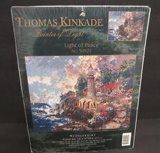 "Light of Peace Counted Cross Stitch #51009 14""X11 Thomas Kinkade Candamar Design"