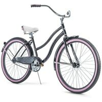 """Huffy 26"""" Cranbrook Women's Cruiser Bike with Perfect Fit Frame Black/Pink (NEW)"""