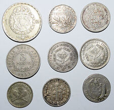 1 + 8 Silver coins.Panama USA South Africa France Netherlands New Zealand Sweden