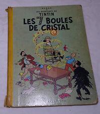 BD Tintin Les 7 boules de cristal 1955 B13 Hergé