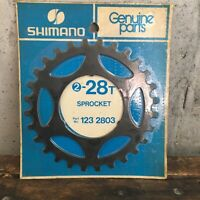 Vintage Shimano 28t Sprocket Black 28 Tooth Freewheel 123-2803 NEW NOS