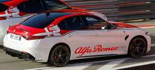 Alfa Romeo Aufkleber 1 Set = 2 Stück für Kfz-Schweller