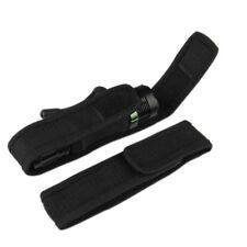 Tactical Cover Holster Holder Belt Black Flashlight Torch Case Pouch Bag