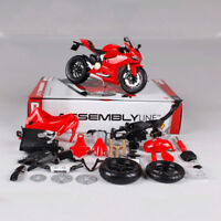 1/12 Ducati 1199 Motorcycle Toy Assembled Motor Vehicle Building Kits 2018 NEw
