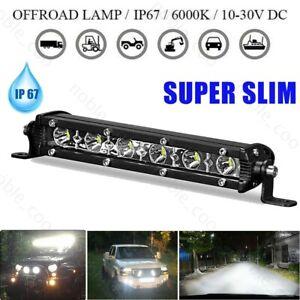 "7"" LED Work Light Bar Spot Flood Offroad Truck Driving Fog Lamp ATV 4WD SUV Boat"