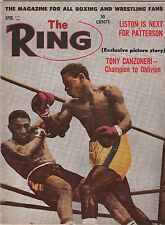 THE RING MAGAZINE HOLLY MIMS-DICK TIGER BOXING HOFer COVER APRIL 1962