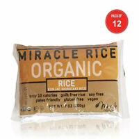 Miracle Noodle Organic Shiritaki Konjac Rice, 7 oz (Pack of 12), Low Carbs, L...