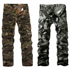 Men Many Pockets Design Camouflage Overalls Casual Cargo Pants Outwear for Boys