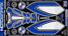 BMW S1000RR 2012 13 14 Knee Fairing Number Board Motografix 3D Gel Protector