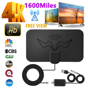 1600Miles Indoor HD Digital TV Antenna Aerial Signal Amplified 4K 1080P Freeview
