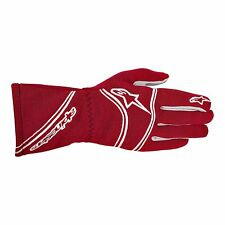Alpinestars Tech 1 Red Racing Gloves. Size Small. FIA Approved Nomex Rally Kart