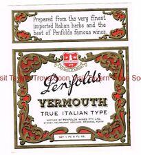 1940s AUSTRALIA PENFOLDS ITALIAN VERMOUTH Label