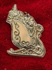 Wallace Sterling Christmas Ornament Sleigh RARE