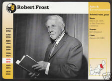 ROBERT FROST American Poet Writer GROLIER STORY OF AMERICA PHOTO BIOGRAPHY CARD