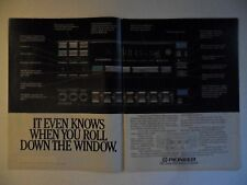 1984 Print Ad Pioneer Centrate Graphic Equalizer AM/FM Stereo Cassette ~ Window
