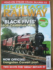 HERITAGE RAILWAY THE COMPLETE STEAM NEWS MAGAZINE ISSUE 129 OCTOBER 1 2009