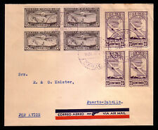 Venezuela: 1937; Scott C49 + C50, Cover , block 4, VE190*